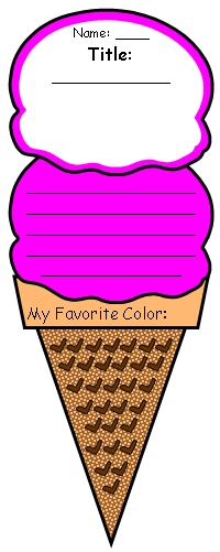 Color Poem Ice Cream Templates Color Poetry