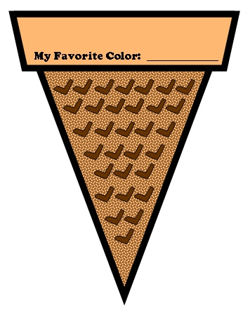 Color Poems Ice Cream Cone Writing Template