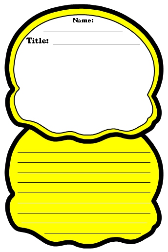 Color Poems Ice Cream Scoop Writing Template
