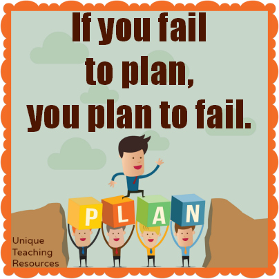 If you fail to plan, you plan to fail.