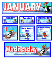 Download Free January Classroom Calendar