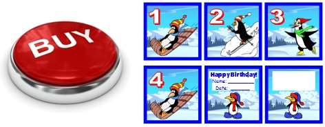January Penguin Pocket Chart Calendar Set For Elementary School Classrooms