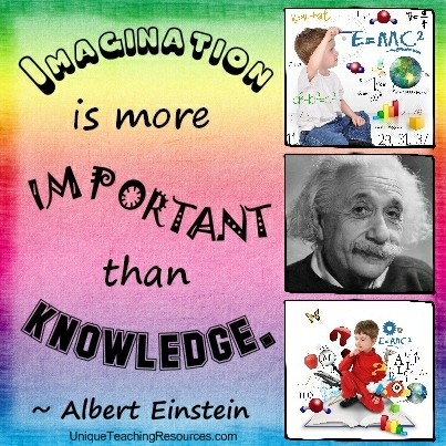 Famous Albert Einstein Quotes - Imagination is more important than knowledge.