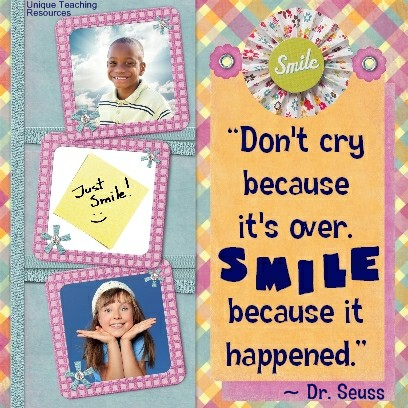 Quotes by Dr Seuss - Don't cry because it's over. Smile because it happened.