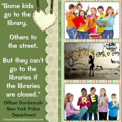 Quotes About Libraries - Some kids go to the library.  Others to the street. But they can't go to the libraries if the libraries are closed.