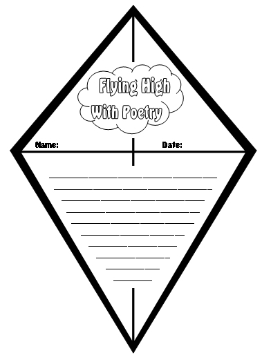 Kite Poetry Templates Unique Kite Shaped Poetry Templates And