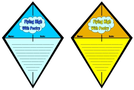Kite Poem Templates Elementary School
