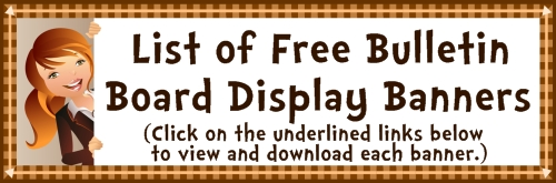 List of Free Bulletin Board Display Banners Available on Unique Teaching Resources