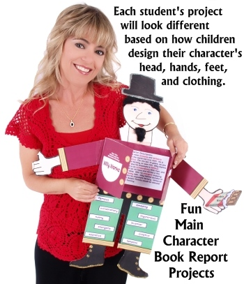 Fun Main Character Book Report Project Ideas for Elementary School Students and Teachers