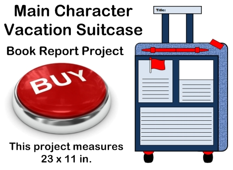 Fun Book Report Project Ideas - Main Character Vacation Suitcase