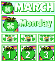 Free March Calendar Set Download