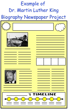 Dr Martin Luther King Jr Newspaper Biography Project For Students