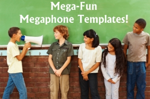 Fun Megaphone Creative Writing Templates