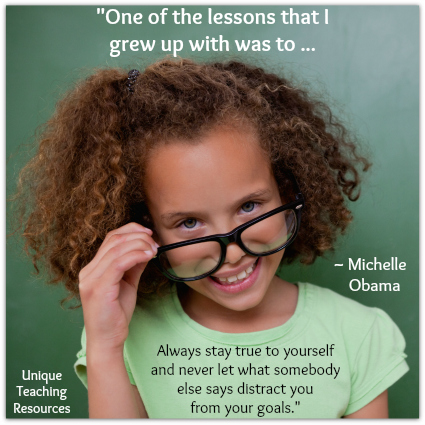 Michelle Obama quote - Always stay true to yourself.