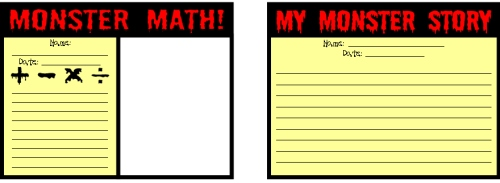 Monster Math Student Worksheets 2