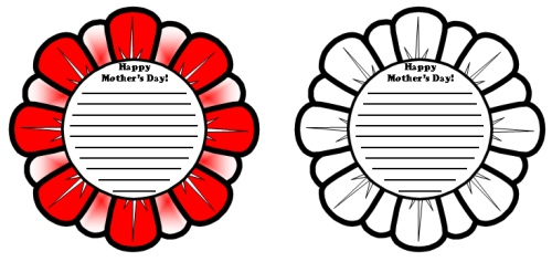Mother's Day Flower Templates and Worksheets