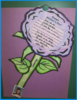 Mother's Day Student Card Example