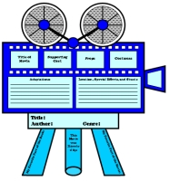 Movie Camera Book Report Project Writing Templates