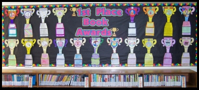 My Favorite Book Report Project Trophy Templates