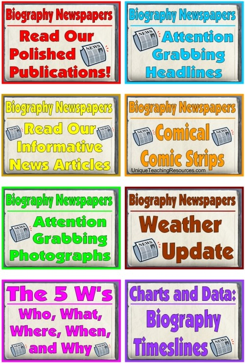 Nonfiction Biography Book Report Projects and Templates