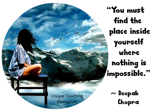 Deepak Chopra Motivation Quote Nothing Is Impossible