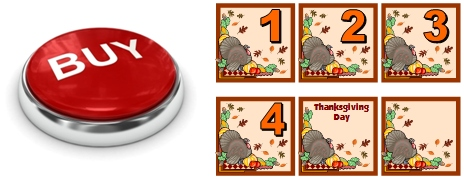 November and Thanksgiving Calendar Set for Elementary School Teachers Buy Now Button