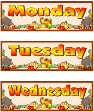 Thanksgiving and November Printable Worksheets Calendar