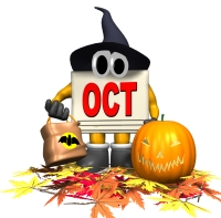 Halloween and October Calendar Graphic