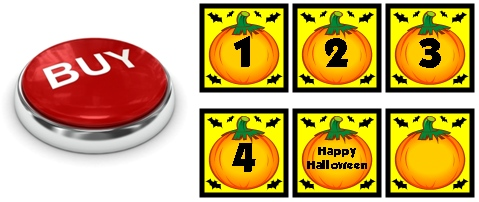 October and Halloween Calendar Set for Elementary School Teachers Buy Now Button