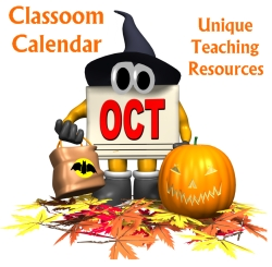 October Classroom Calendar For Elementary School Teachers