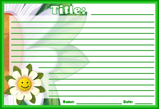 Flower Printable Worksheets for Spring Themes