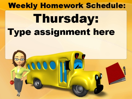 Open House Powerpoint Presentation Homework Assignments Elementary School