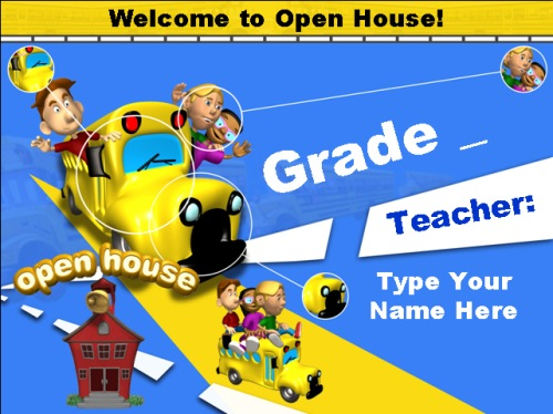 Parent Open House Powerpoint for Back to School Elementary Teachers