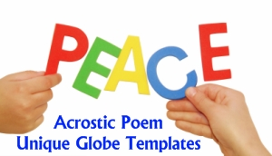 Peace Day Acrostic Poems and Poetry Templates and Worksheets