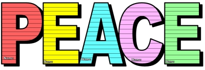 Peace Day Colorful Rainbow Letter Templates