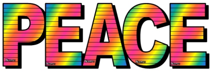 Peace Day Group Project Rainbow Letter Templates