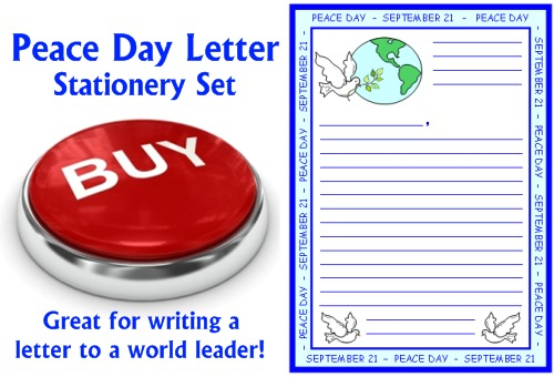 Buy Peace Day Letters to President and World Leaders Worksheets Now