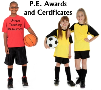 PE and Sports Awards and Certificates for Children and Students