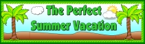 Perfect Summer Vacation Creative Writing Banner