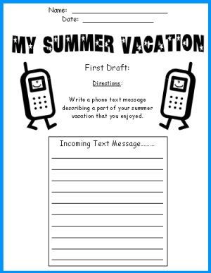 Summer Vacation Essay-Writing
