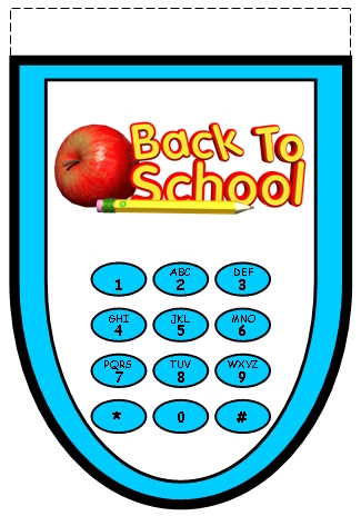 Grade 5 Back to School Teaching Resources Bottom Cell Phone Template