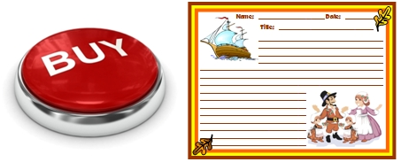 Mayflower and Pilgrims Creative Writing Printable Worksheets Buy Button