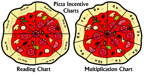 Pizza Sticker Charts for Elementary School Students