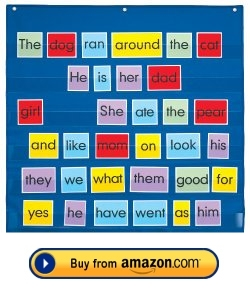 Pocket Chart For Sight Words Flashcards