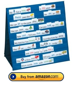 Tabletop Pocket Chart Sight Words and Sentences