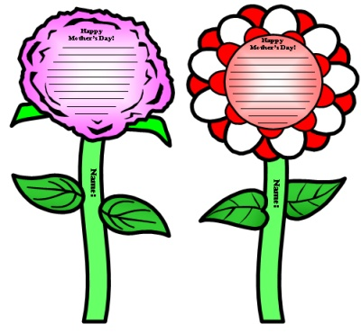 Mother's Day Cards Lesson Plans Flower Templates