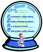 Winter Snow Acrostic Poem and Poetry Templates