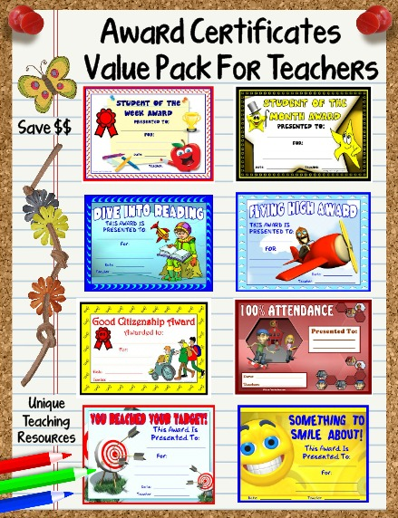 Printable Award Certificates For Elementary School Teachers