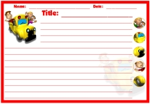 Bus Printable Worksheets for Language Arts