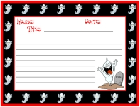 Halloween Ghostly Tales Printable Worksheets for Language Arts